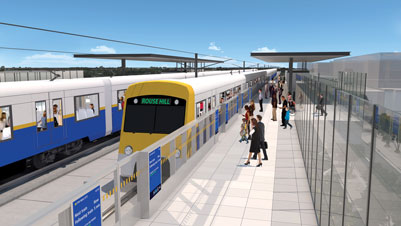Rouse Hill Station Artist Impression