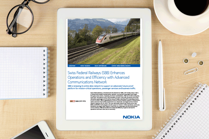 Swiss Federal Railways (SBB) enhances operations and efficiency with advanced communications network
