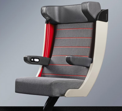 SNCF unveils design of the new TGV first class seat