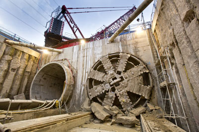 Tunnel machine Ellie had one of Crossrail's shortest but most complex drives,