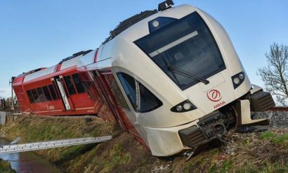 Train derailment at unmanned crossing reported in the Netherlands
