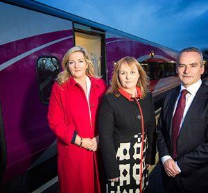 Translink NI Railways reveals first refurbished Enterprise train