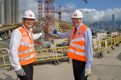 Transport Minister views MTR rail transport projects in Hong Kong