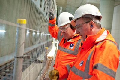 Transport Secretary views progress on Crossrail construction
