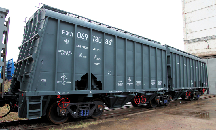 UWC receives certification for two articulated hopper cars