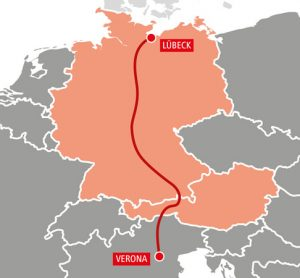 Verona to Lübeck direct train introduced by ÖBB Rail Cargo Group