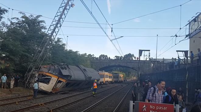 Vigo-Porto train derails in Spain killing at least four people