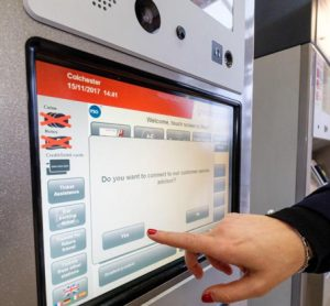 Virtual ticket agents help Greater Anglia passengers at ticket machines