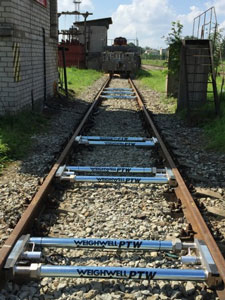 Portable six axle train weighing system for Estonia