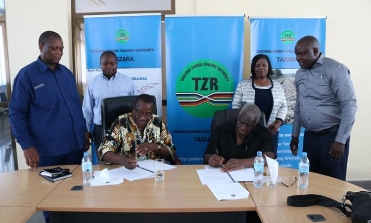 TAZARA and CBU Zambia sign Business Partnership Agreement