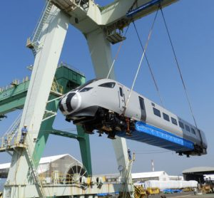 First Nova 1 bullet train en route to the UK after leaving Japan