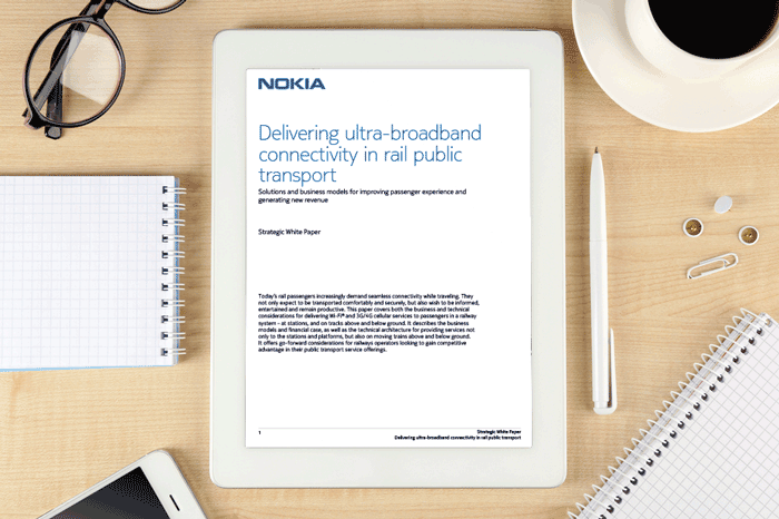 Whitepaper: Delivering ultra-broadband connectivity in rail public transport