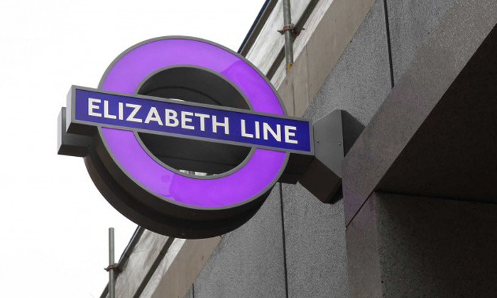 First iconic purple roundels have been installed on Elizabeth line