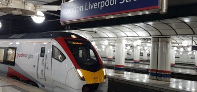First 12-carriage electric Greater Anglia train arrives at Liverpool Street station