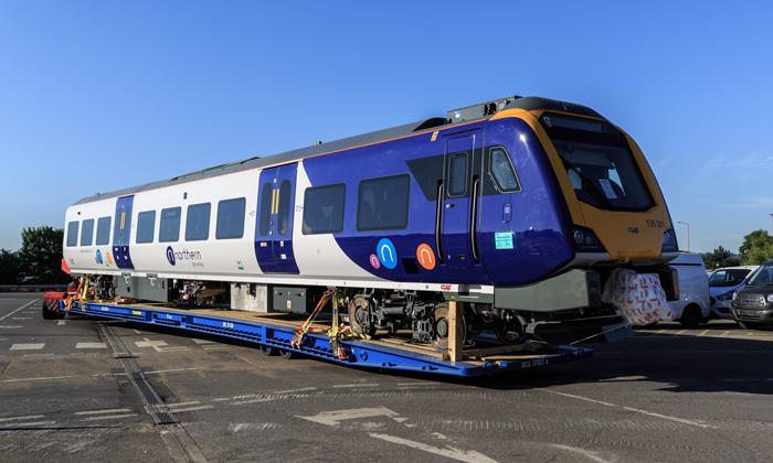 Northern's first new 98 train arrives in the UK