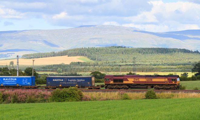 Report suggests increasing rail freight capacity will help rebalance the UK economy