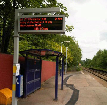 Real time information at stations across Greater Manchester