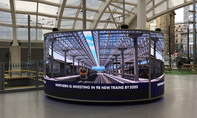 Northern unveils Digipod displaying real-time passenger information