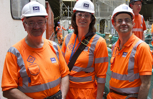 Claire Perry visits TBM Crossrail