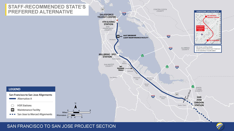 Map Of California High Speed Rail.California High Speed Rail Authority Releases Route Recommendations