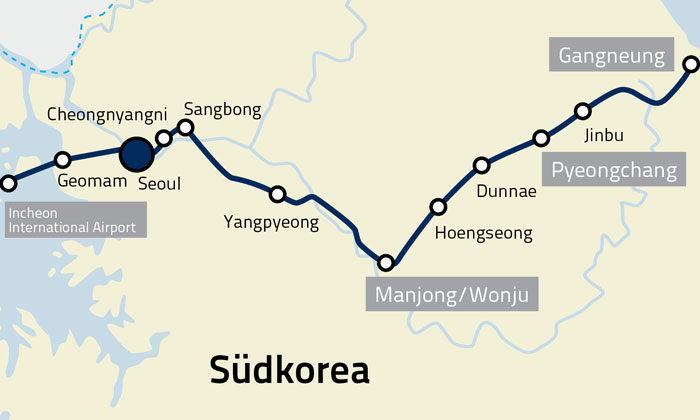 RAIL.ONE supplies track system for South Korea's major rail project