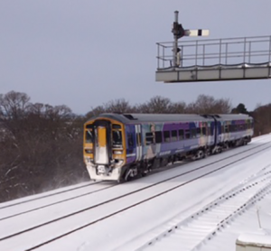 Heavy snow in the UK causes rail travel disruption