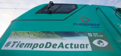 #TimetoAct slogan to be displayed on Transfesa Logistics locomotive