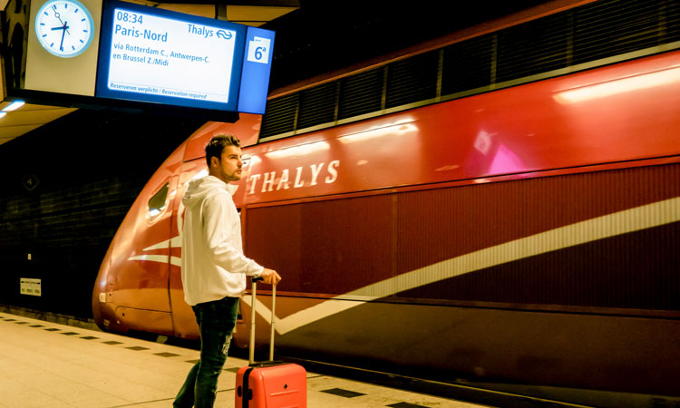 Travelling internationally by rail increases in the Netherlands