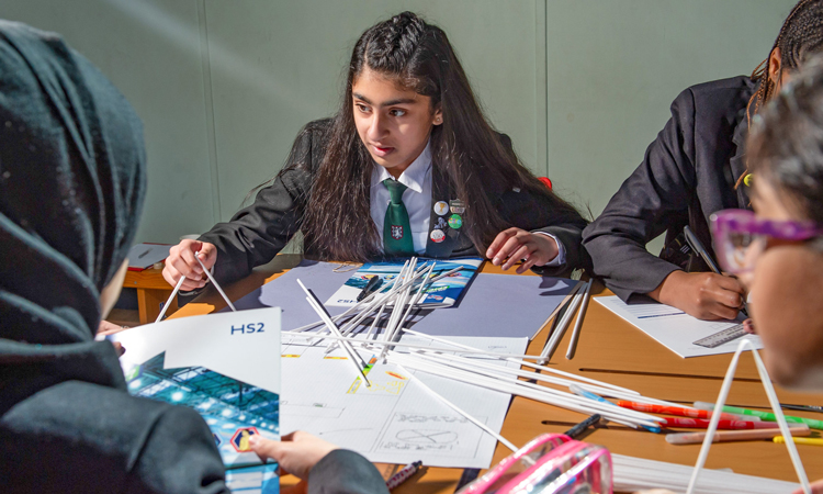 HS2's innovative programme of workshops is aimed at encouraging the next generation to meet the UK's growing engineering skills gap.